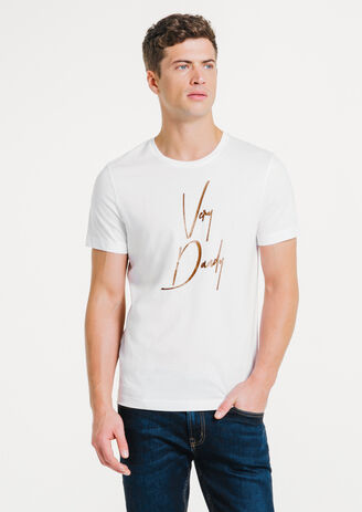 Tee-shirt blanc col rond Very Dandy