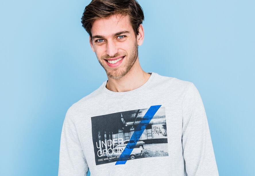 """T-shirt col rond  imprimé """"Underground"""""""
