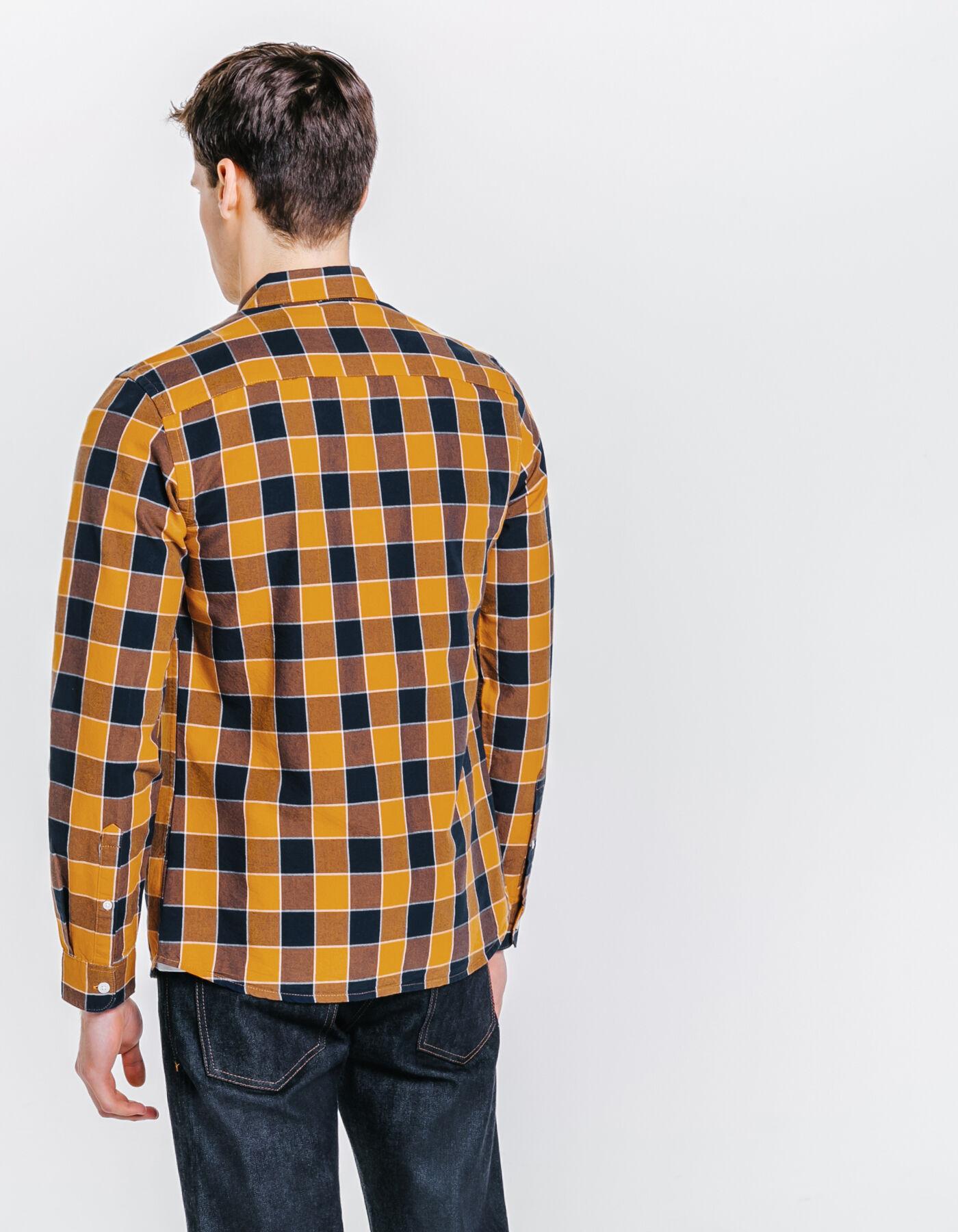 chemise slim carreaux jaune moutarde homme jules. Black Bedroom Furniture Sets. Home Design Ideas