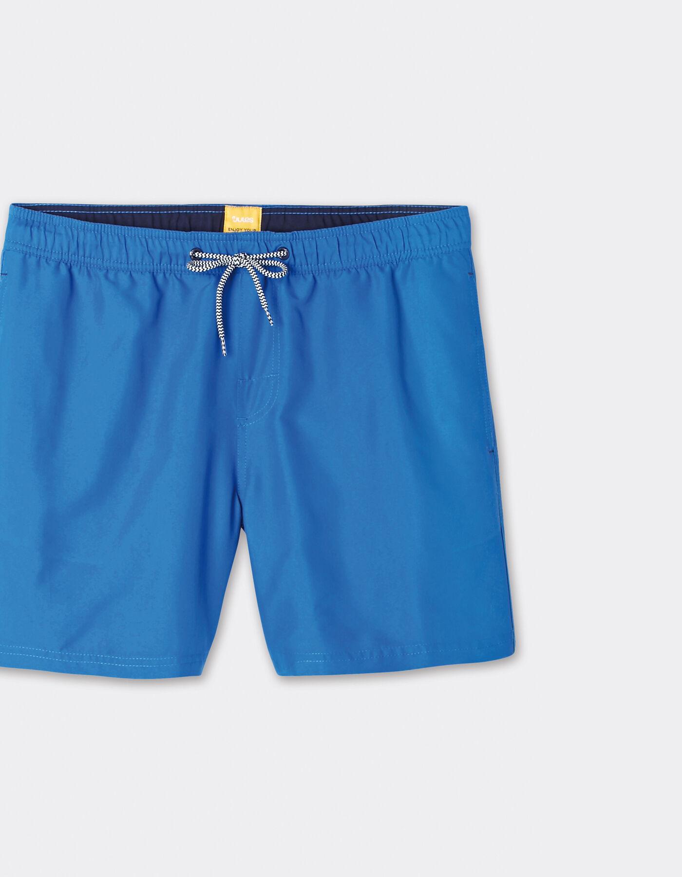 short de bain homme court uni cordon contrast ave bleu. Black Bedroom Furniture Sets. Home Design Ideas
