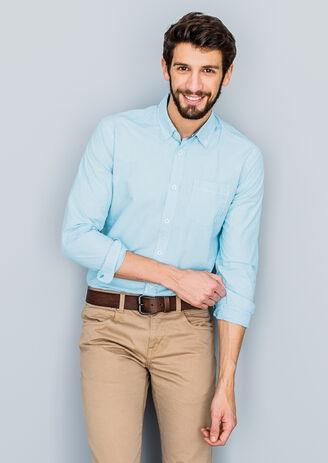 Chemise coupe ajustée rayée
