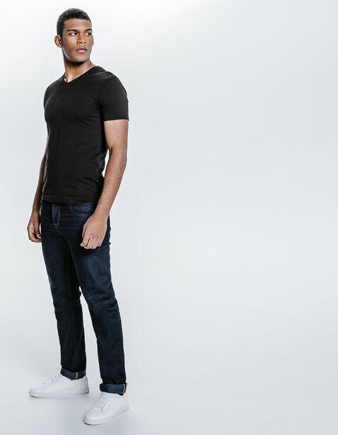 Tee shirt col V en coton biologique
