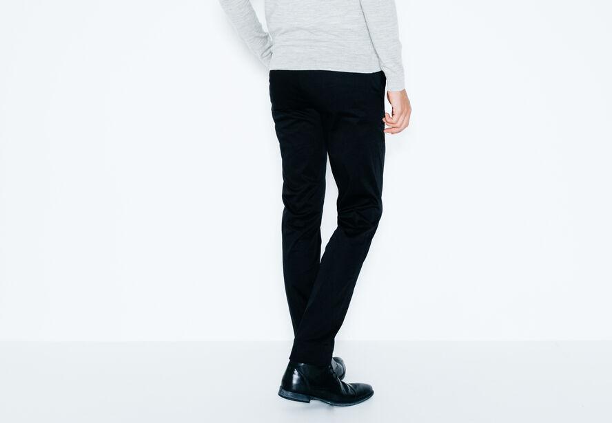 Pantalon chino détails cuir