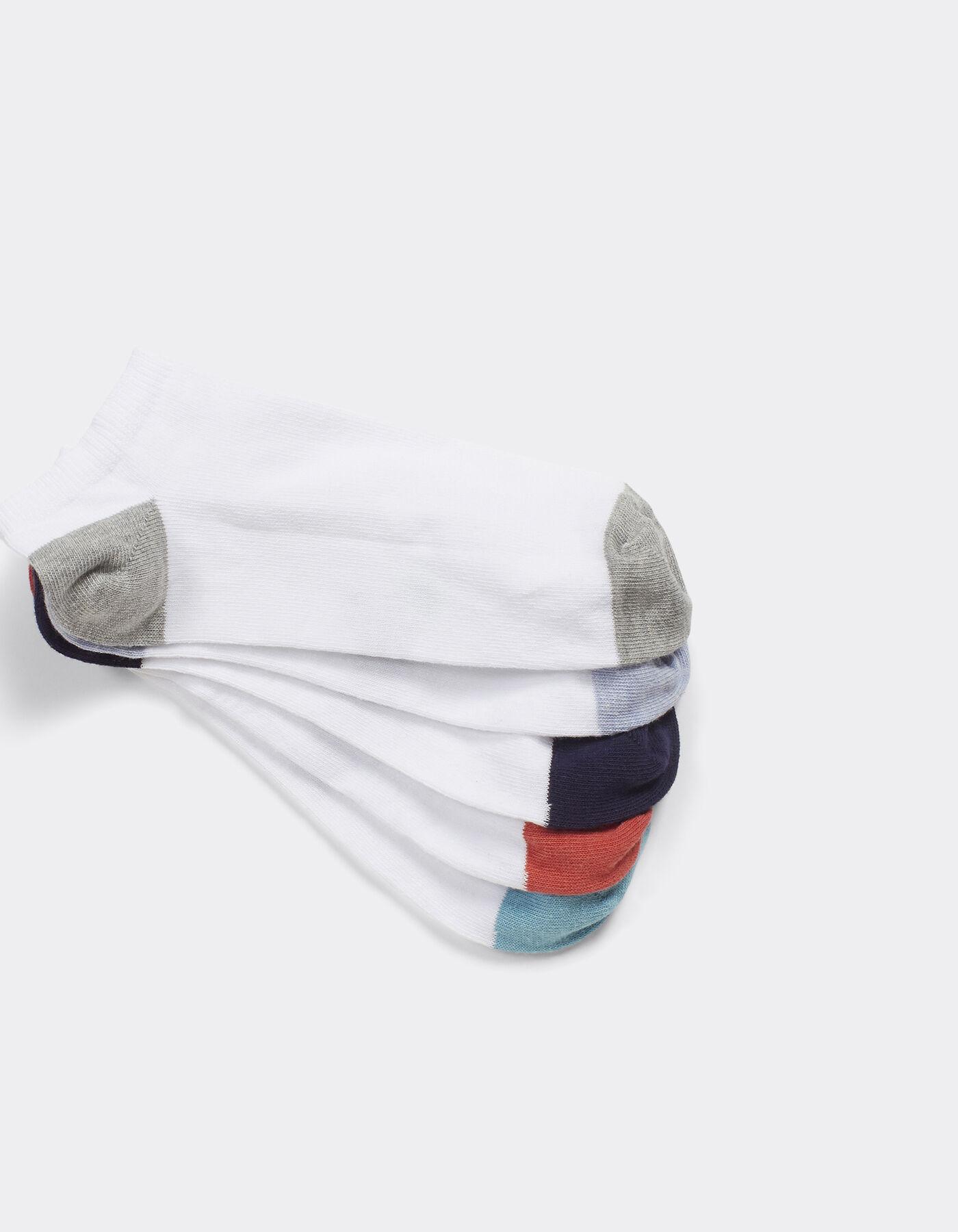 lot de 5 paires de chaussettes talon pointe couleu blanc homme jules. Black Bedroom Furniture Sets. Home Design Ideas