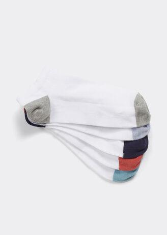 Lot de 5 Chaussettes basses talons pointes couleur