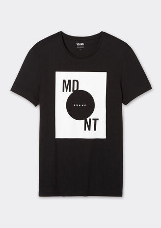 Tee-shirt col rond imprimé MDNT