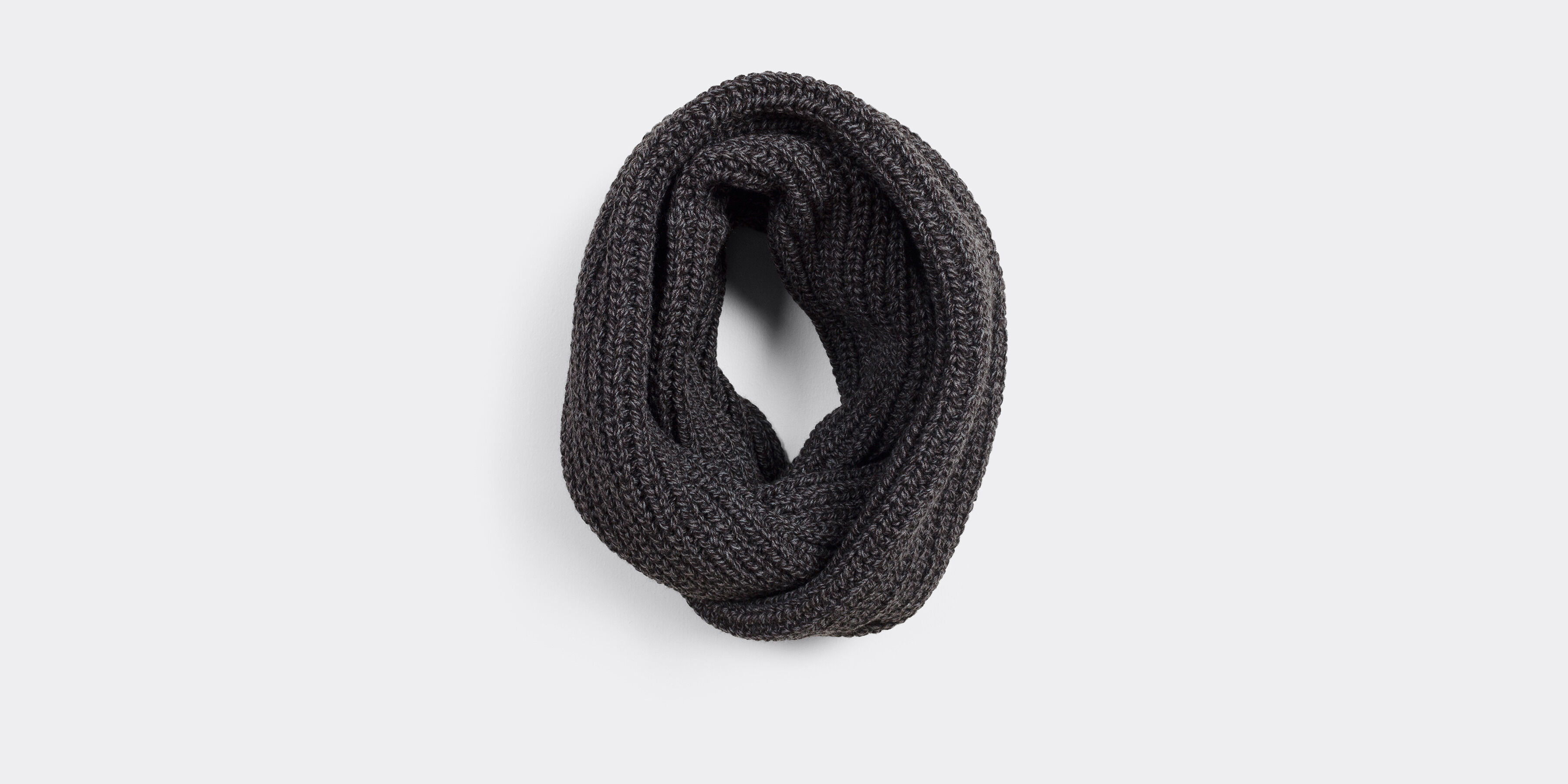 Snood côte chiné mouliné