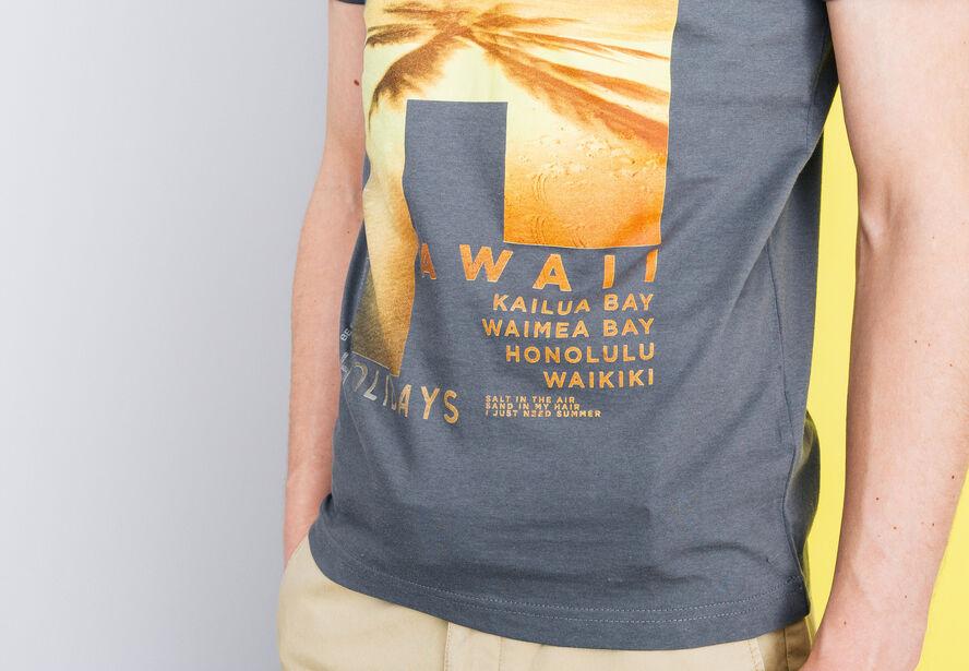 """T-shirt col V imprimé """"Hawaii"""""""