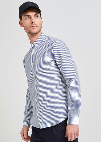 Chemise oxford à rayures