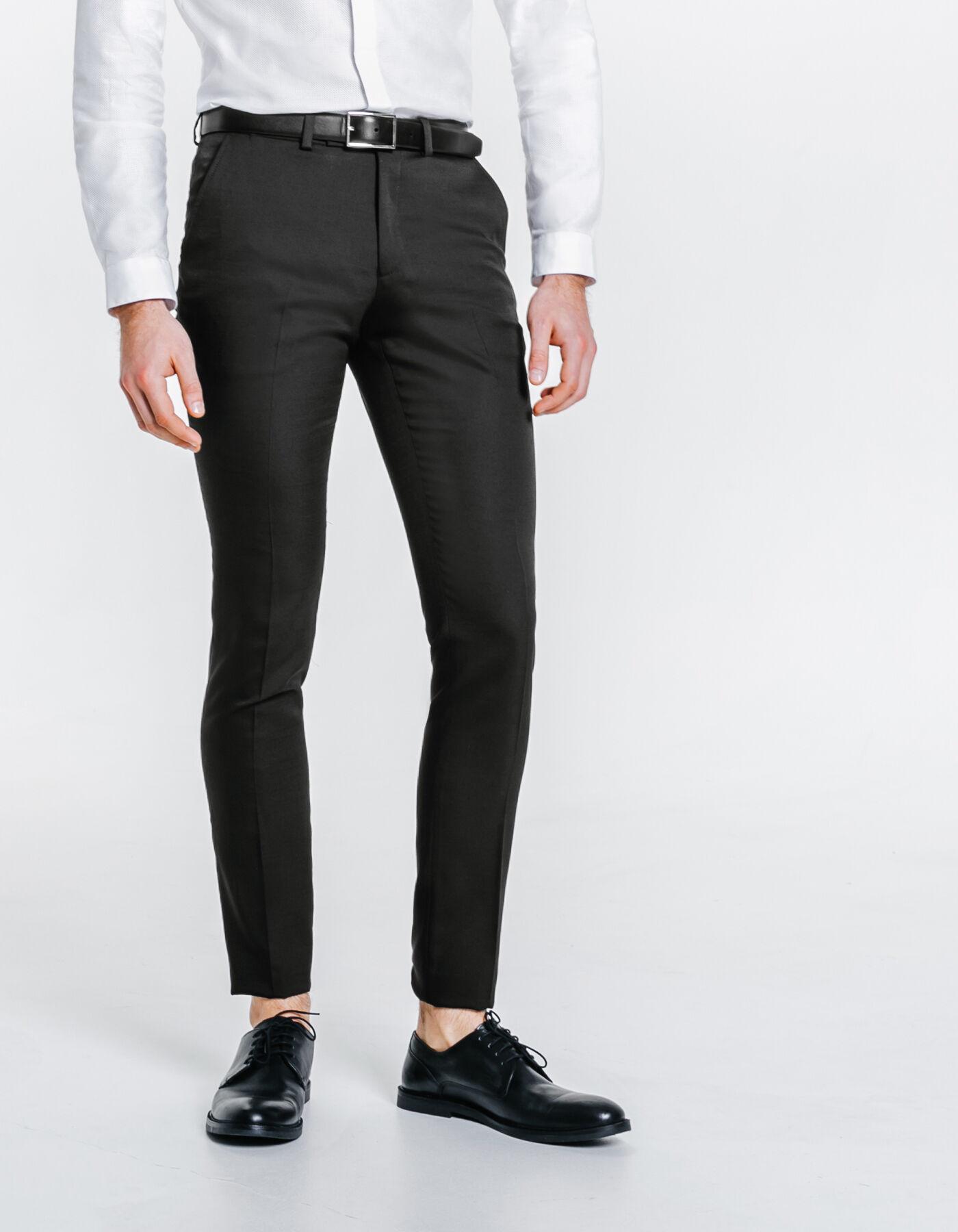 pantalon de costume extra slim noir homme jules. Black Bedroom Furniture Sets. Home Design Ideas