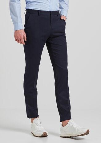 Pantalon de costume slim twill marine