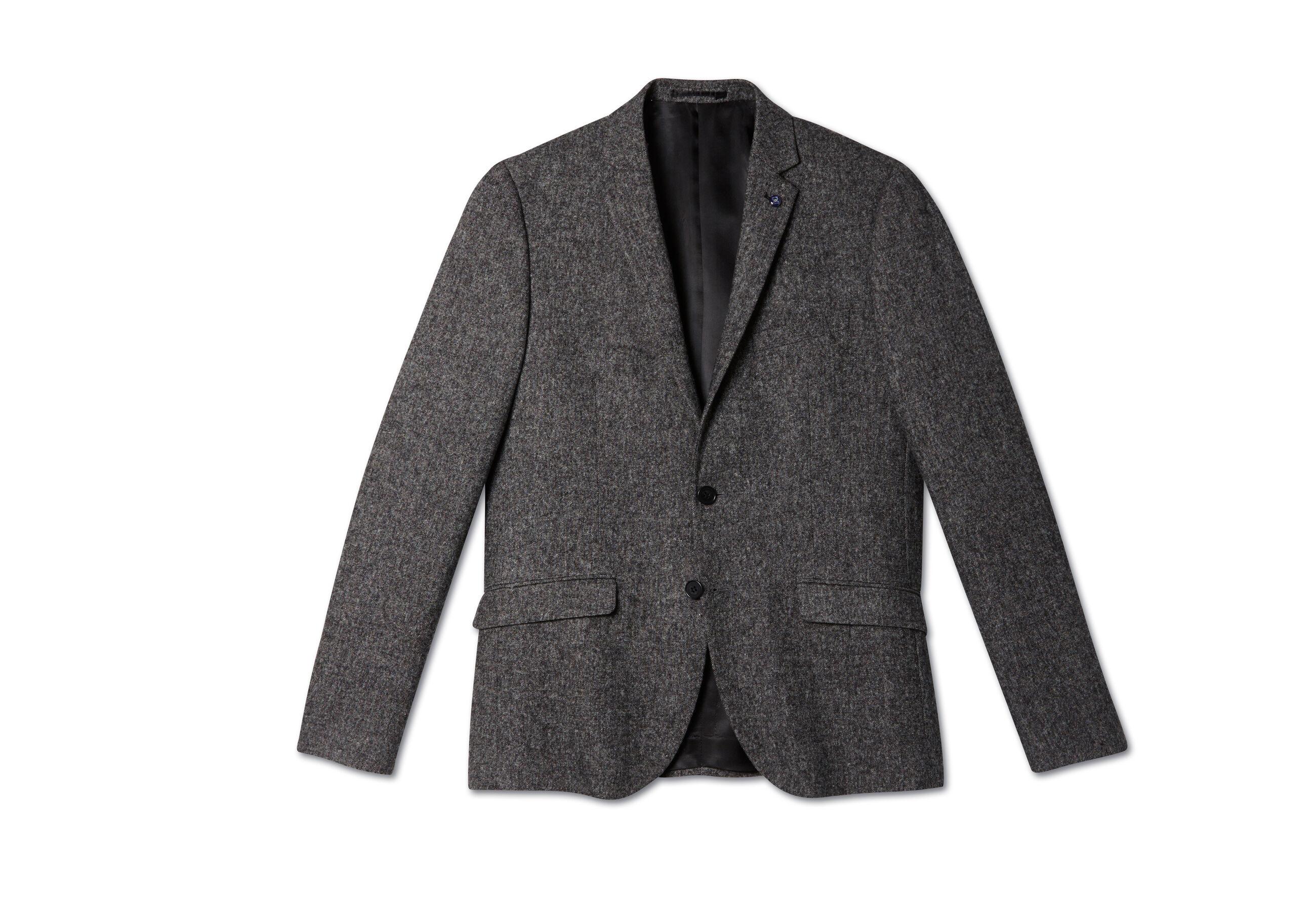veste seule tweed gris homme jules. Black Bedroom Furniture Sets. Home Design Ideas