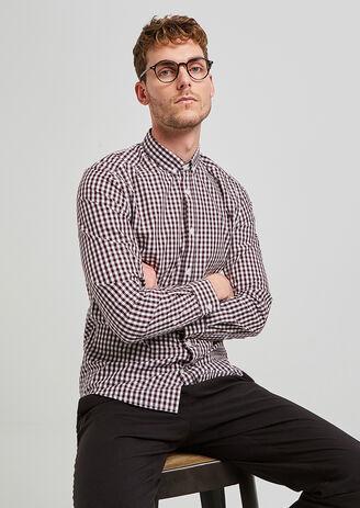 Chemise à carreaux regular