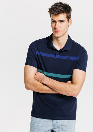 Polo colorblock