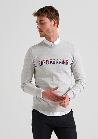 Trui met opdruk 'Up & Running'