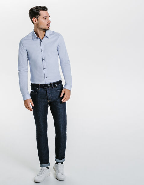 chemise extra slim unie bleu clair homme jules. Black Bedroom Furniture Sets. Home Design Ideas