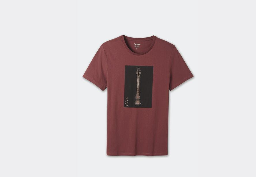 tee shirt guitare cuivrée
