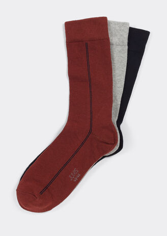 Lot de 3 paires de chaussettes rayures fines