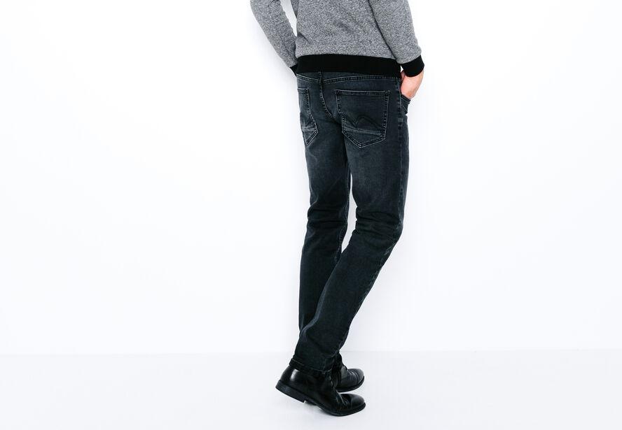 Jean straight noir brossé