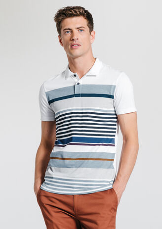 Polo jersey multi rayures