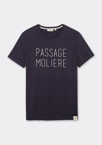 Tee-shirt col rond inscription poitrine