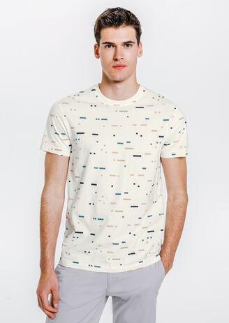 tee shirt imprimé bandes