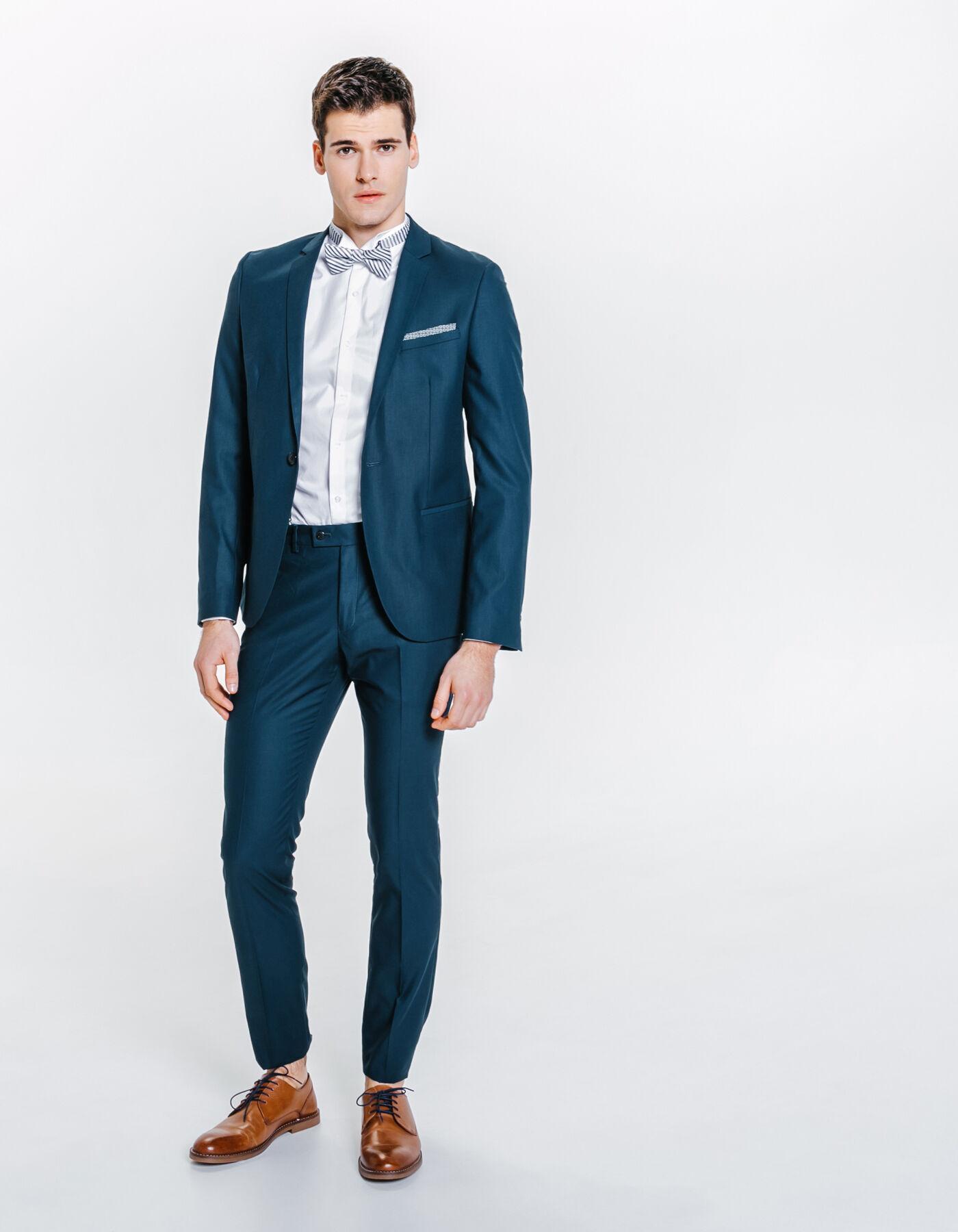 veste de costume slim premier prix bleu canard homme jules. Black Bedroom Furniture Sets. Home Design Ideas
