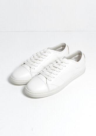 Sneakers in sintetico aspetto granulato