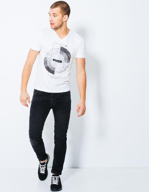"T-shirt, col V ,""Unconventional"""