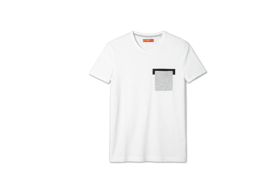 Tee shirt col rond poche poitrine