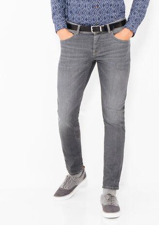 Jean straight gris 4 longueurs