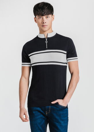 Pull manches courtes col cycliste