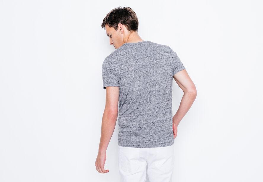 """T-shirt col rond imprimé """"Listen"""""""