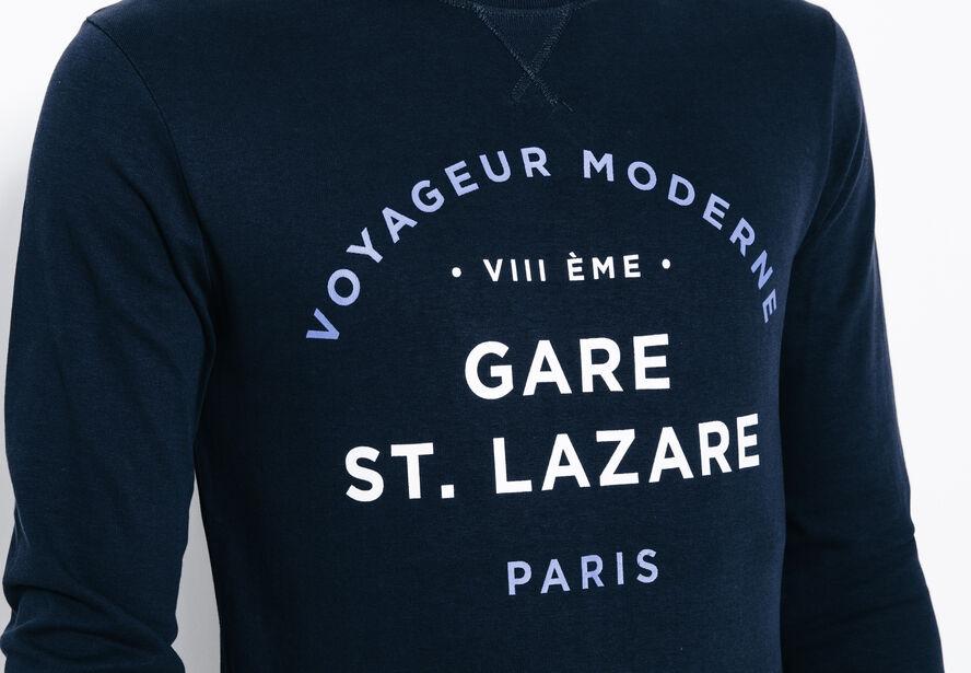 T-shirt façon sweat Gare St Lazare