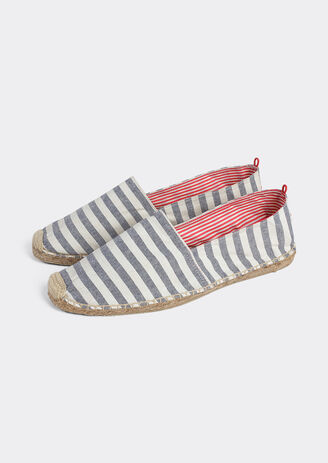 Espadrilles medium marinestrepen