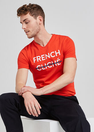tee shirt message FRENCH CLICHE