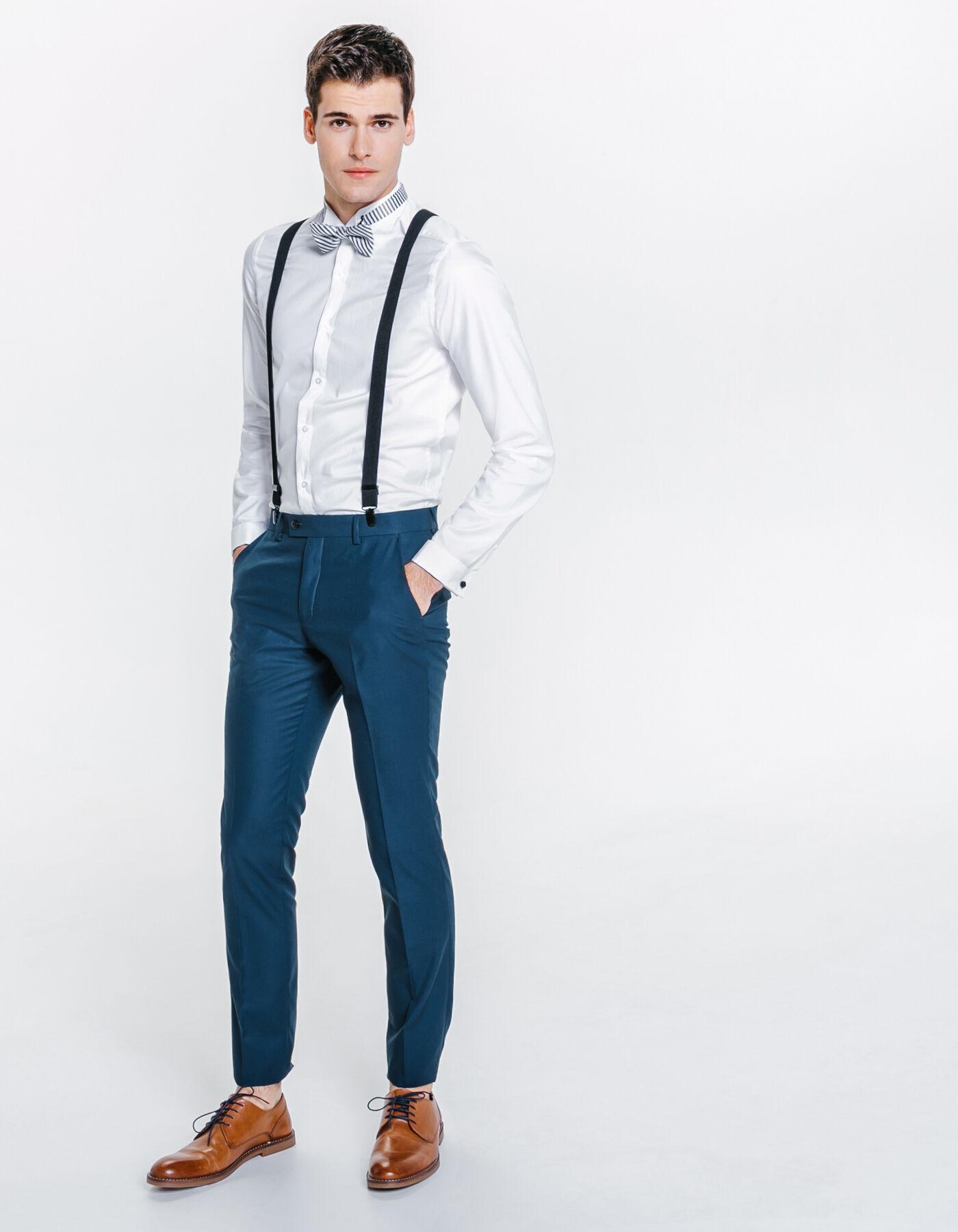 pantalon de costume slim premier prix bleu canard homme jules. Black Bedroom Furniture Sets. Home Design Ideas