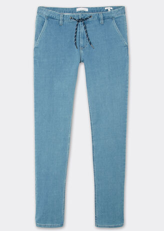 Jeans slim façon jogging chino