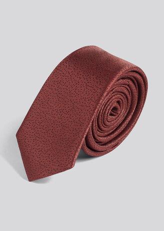 Cravate imprimée pluie de points