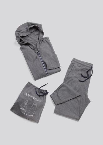 Pyjama homme gris sweat et pantalon