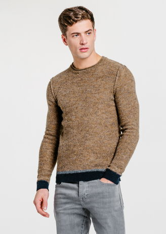 Pull maille bouclette