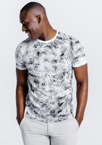 Tee shirt imprimé feuilles