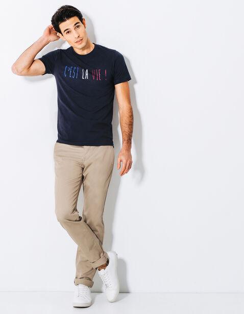 T-shirt col rond imprimé C'est la vie
