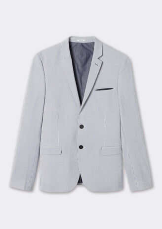 veste seule rayée