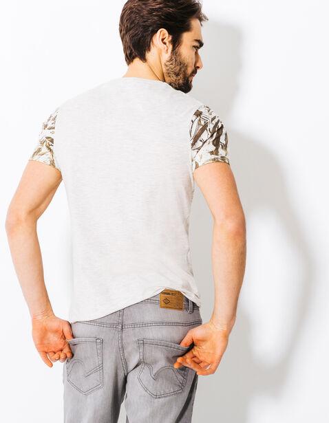 Tee shirt imprimé dégradé feuillage