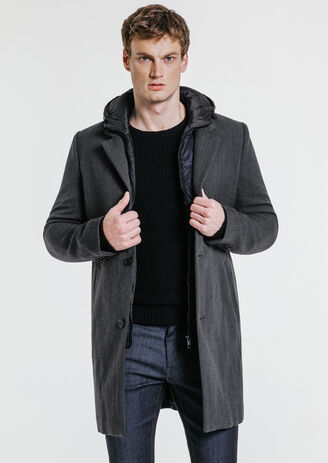 Manteau long parmenture amovible