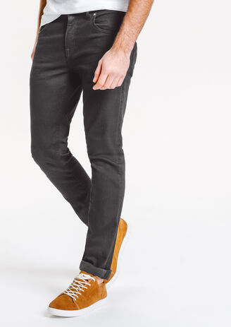 Jean slim noir 4 longueurs