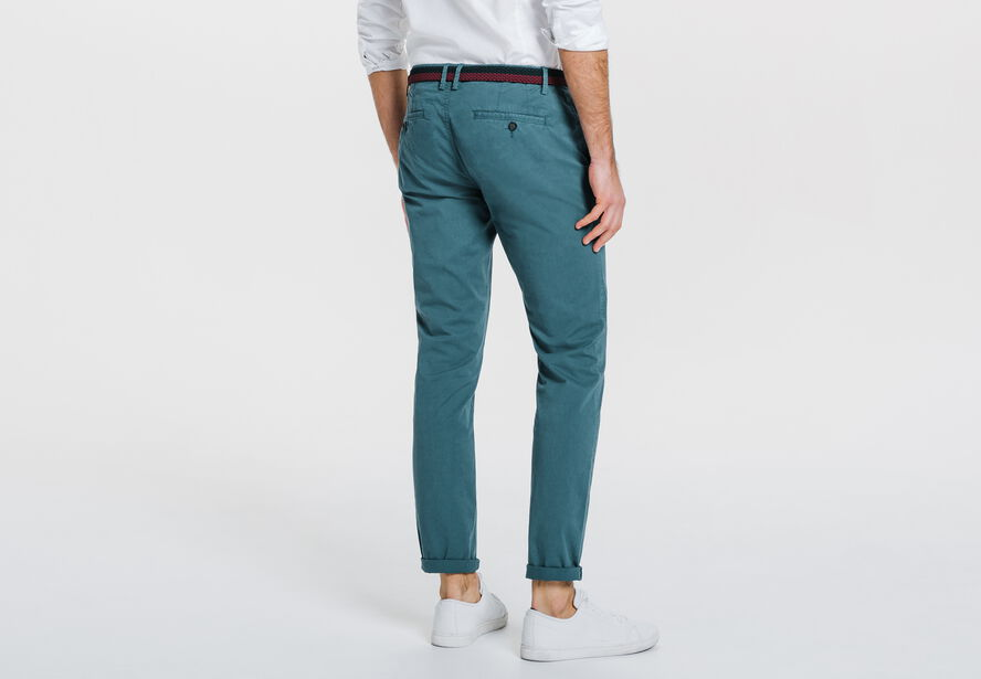 chino skinny garment dyed bleu canard homme jules. Black Bedroom Furniture Sets. Home Design Ideas