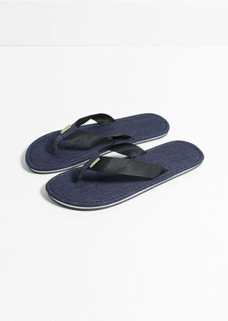 Teenslippers canvas