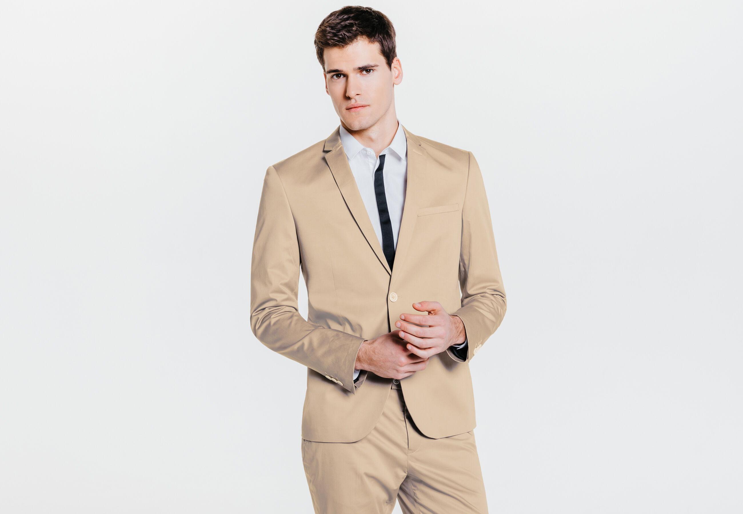 veste de costume fitted beige homme jules. Black Bedroom Furniture Sets. Home Design Ideas